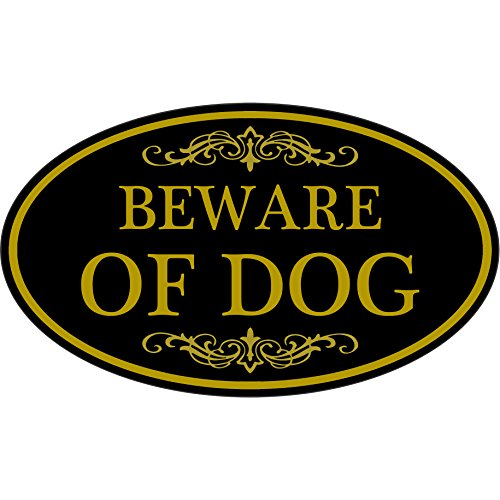 Beware Of Dog Sign 12' x 7' Aluminum Oval