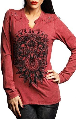 (Affliction Live Wild Long Sleeve T-shirt XL Red)