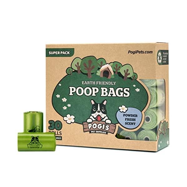 Pogi's Poop Bags – 30 Rolls (450 Bags) – Earth-Friendly, Scented, Leak-Proof Pet Waste Bags