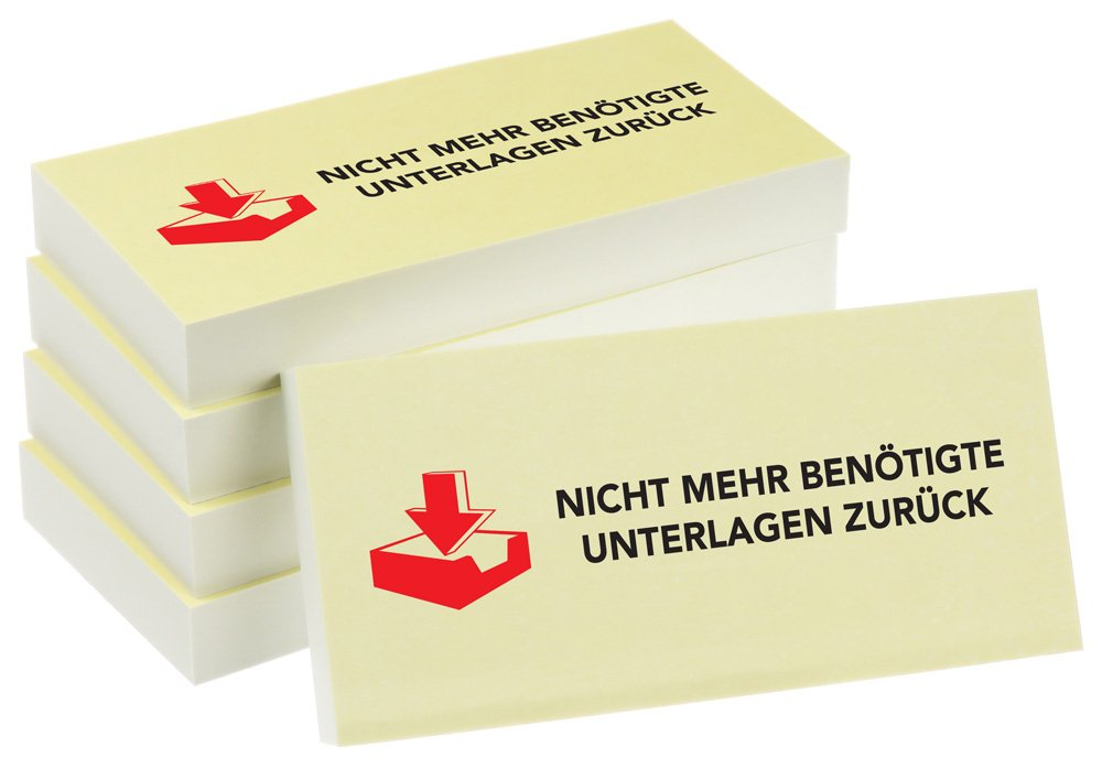 "100 Blatt PRICARO Haftnotizen /""Neue Bankverbindung/"" 10 Stück"