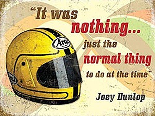 Joey Dunlop Motorbike Helmet Tin Sign Biker Man Gift Biker Gift RetroTin Sign