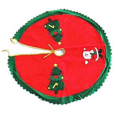 ofye decoración para base de árbol de Navidad con Papá Noel decorada, diseño de árboles