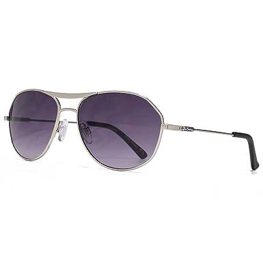 Ben Sherman Konische Tempel Metall Aviator Sonnenbrillen in mattsilber BEN005 One Size Gradient Grey dhL33w