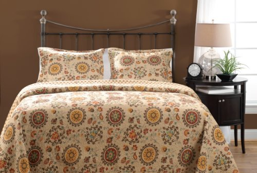 Greenland Home 3-Piece Andorra Quilt Set, King, Multicolor by Greenland Home