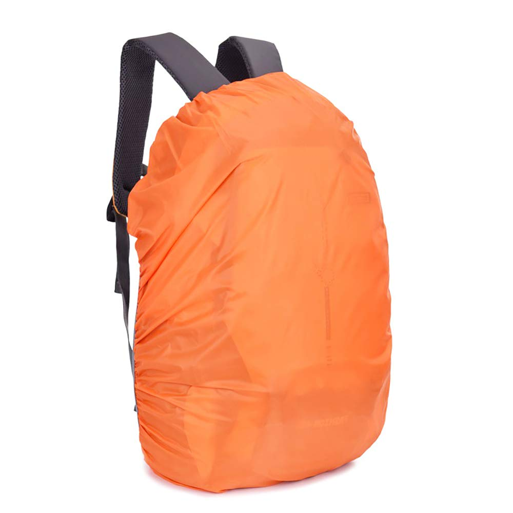 Waterproof Backpack Cover for School Bags Outdoor Activities Bags Luggage Bags Rain/Dust Cover Orange 55-60 L
