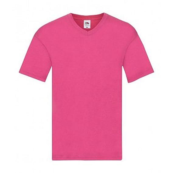 Fruit of the Loom Camiseta de Cuello EN V Modelo Original Para Hombre 8Bz3esuCx