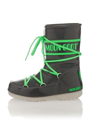 Moonboot Damen Stiefel anthrazit/grün