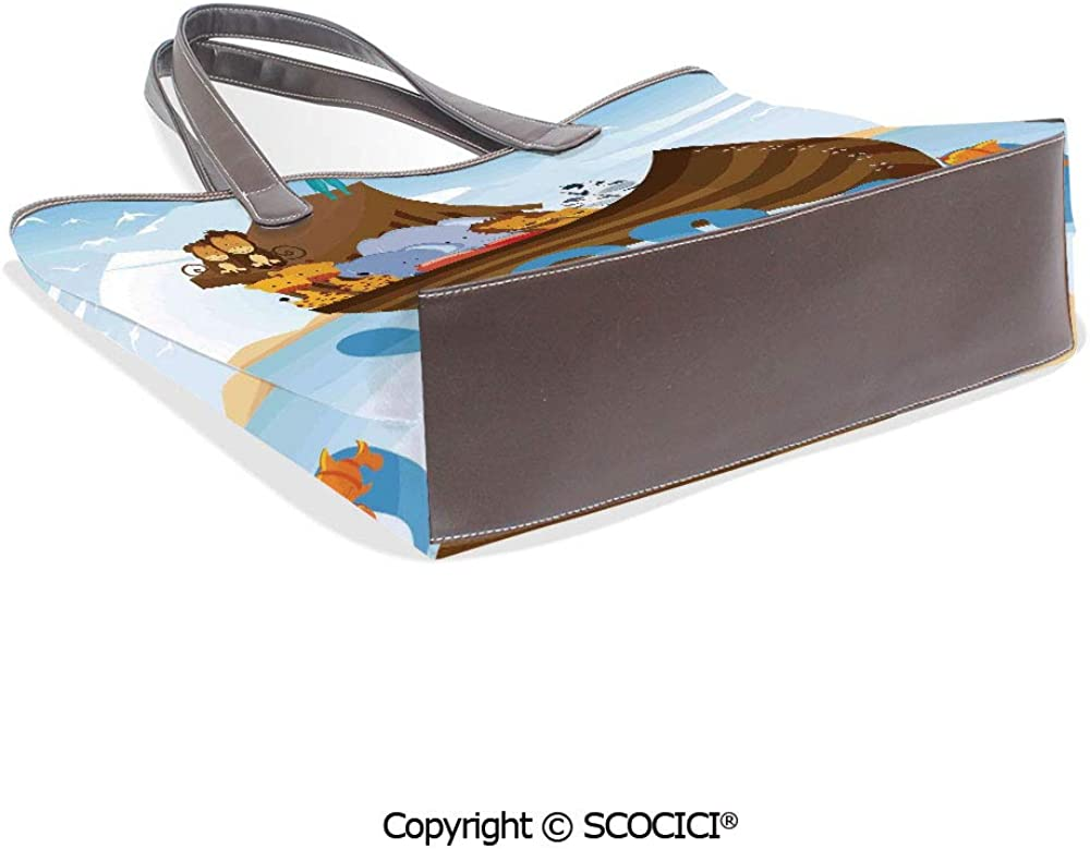SCOCICI Satchel for Women Classic Monochrome Diagonal Lines with Abstract Motif