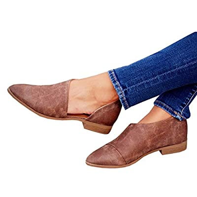 a05cc48941b Womens Casual Point Toe Slip-on Cut Out Low Heel Office Work ...