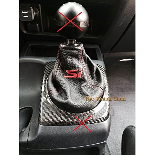 Aerzetix Faux Leather Gear Stick Cover with Stitching Variable Colours