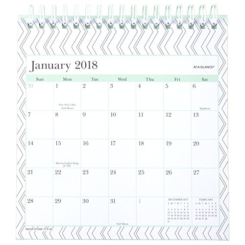 AT-A-GLANCE Monthly Easel Calendar, January 2018 - December 2018, 6-1/16