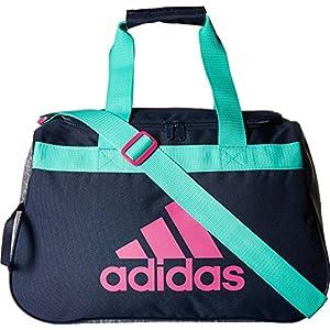 adidas Women's Diablo small duffel Bag, Green/Bahia Magenta, One Size