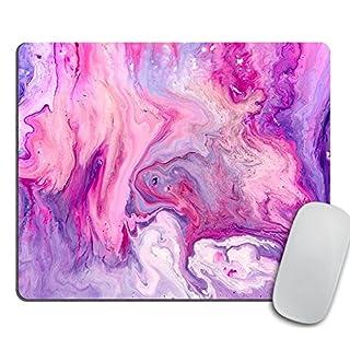 Marble Mousepad, Office Decor, Purple Mouse Pad Colorful & Unique