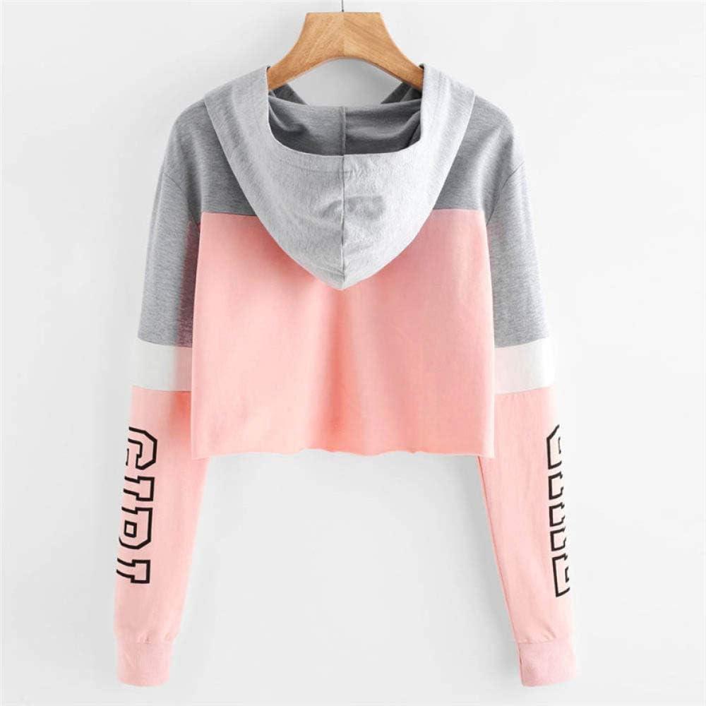 YUFUFU Kapuzenpullover Hoodies Damen Sweatshirts Lässige Print Hoody Shirt LangarmJumper Kapuzenpullover Rosa