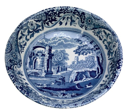 - Spode Blue Italian Earthenware 6-1/4-Inch Cereal Bowl