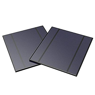 ALLPOWERS 2 Pieces 2.5W 5V/500mAh Solar Panel DIY Battery Charger Kit Mini Encapsulated Solar Cell Epoxy for Battery Power LED 130x150mm (Solar Panel Only) : Garden & Outdoor