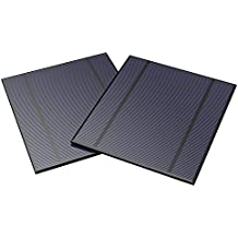 ALLPOWERS 2 Pieces 2.5W 5V/500mAh Solar Panel DIY Battery Charger Kit Mini Encapsulated Solar Cell Epoxy for Battery Power LED 130x150mm (Solar Panel Only)
