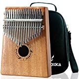Moozica 17 Keys Kalimba Marimba, Professional Thumb Piano Sanza Mbira Musical Instrument Gift (Mahogany - K17M)