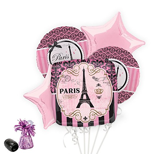 Costume SuperCenter Paris Damask Balloon Bouquet Kit -