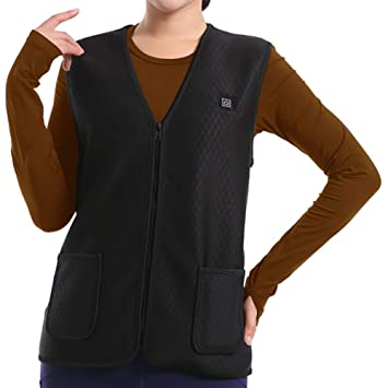 mujer con calefacción chaleco recargable recarga usb chaqueta eléctrica calefacción ropa ajustable invierno cálido chaleco lavable y seguridad para el dolor ...