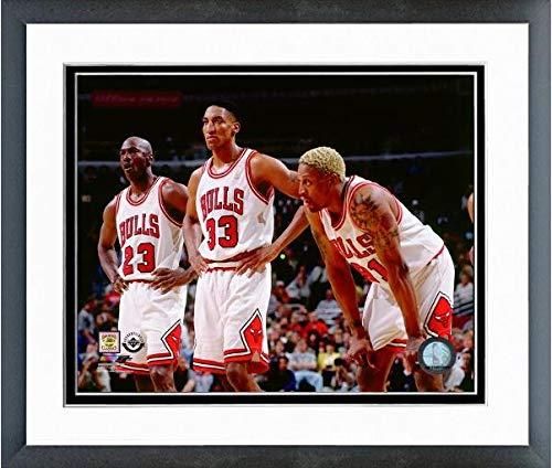 Michael Jordan, Scottie Pippen, Dennis Rodman Chicago Bulls NBA Photo (Size: 12.5