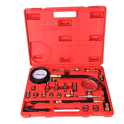 Ambienceo 140 PSI 10 Bar Fuel Injection Diesel Pump Pressure Tester Gauge Compression Test Tool Kit