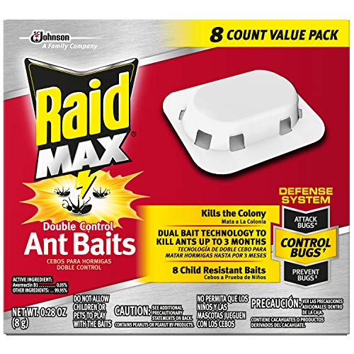 Raid Max Double Control Ant Baits, 8 CT (Pack - - Housing Outdoor Environmental