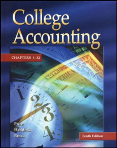 Update Edition of College Accounting Student Edition Chapters 1-25 w/ NT & PW
