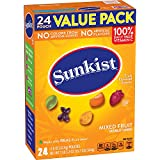 Sunkist Fruit Snacks Value Pack, Mixed Fruit, 19.2 Ounce, 24 Count (Pack of 3)