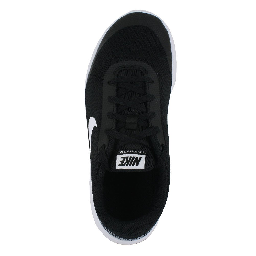 Nike Kids Flex Experience RN 7 (GS) Black White White Size 4 by Nike (Image #4)