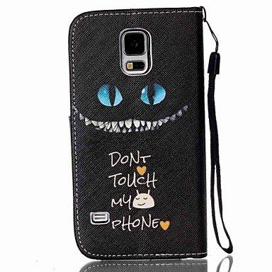 Casos hermosos, cubiertas, Modelo del gato negro de la PU de la caja del teléfono de material para la galaxia s6 / s5 / s3 / s4 / s4mini / s5mini / s3mini / s6edge / ( Modelos Compatibles : Galaxy S4  Galaxy S6 Edge
