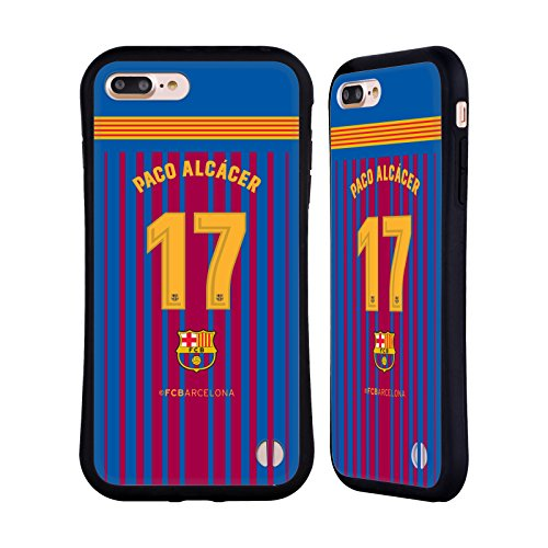 Official FC Barcelona Paco Alcácer 2017/18 Players Home Kit Group 1 Hybrid Case iPhone 7 Plus/iPhone 8 Plus