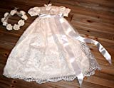 Silk Beaded Christening Gown 3/6 month