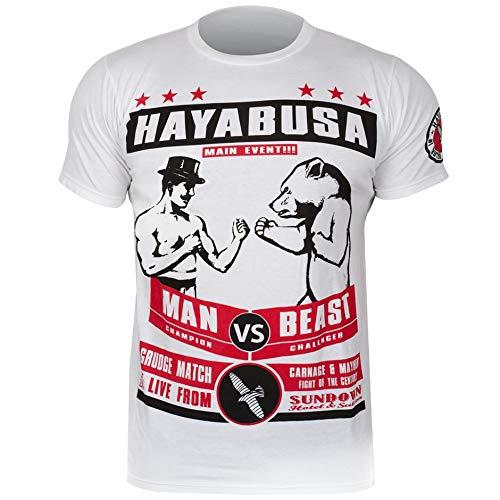 Hayabusa Gentleman Vs. Beast T-Shirt [White], XL (Hayabusa T Shirt)