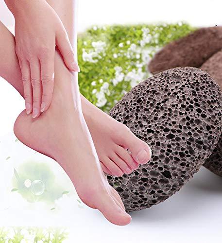 IMMODIA Loofah Scrubber and Pumice Stone Combo 100% Natural Organic Loofah Bath Sponge Body Scrubber Natural Lava Exfoliating Pumice Stone Remove Dead Skin Pedicure Skin Care by IMMODIA (Image #3)