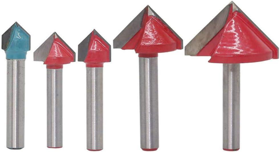 1 ST/ÜCK 6mm V Bit CNC VHM Schaftfr/äser 3D Holz Fr/äser 60 90 120 150 Grad GFHDGTH Hartmetalllegierung Holzbearbeitung Fr/äser 6 10 60 MM