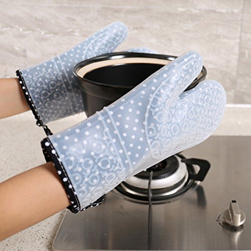 Lqchl 1 Pair High Temp Hand Protectors Kitchen Microwave Oven Glove Non-Slip Cooking Gadget by Lqchl