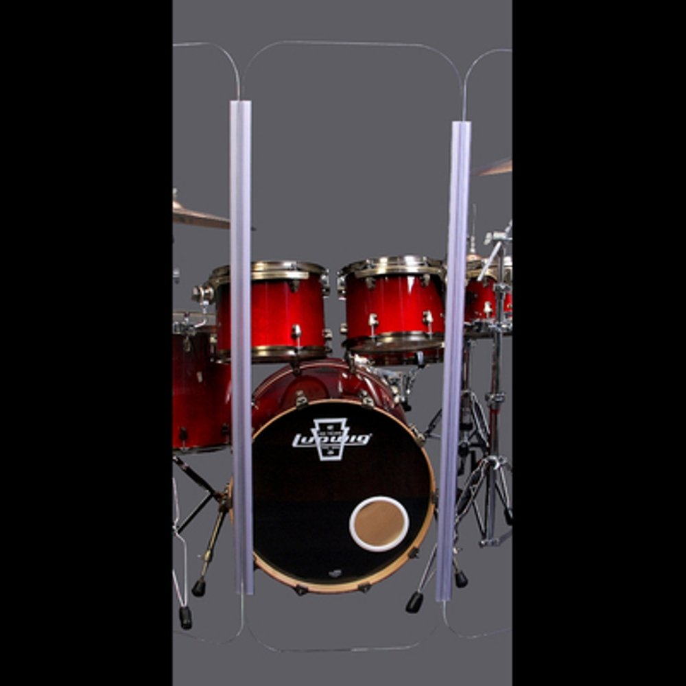 Drum Shield- DS65L Five - 2ft. x 6 ft. Panels with Plastic Full Length Living Hinges by Pennzoni Display (Image #5)