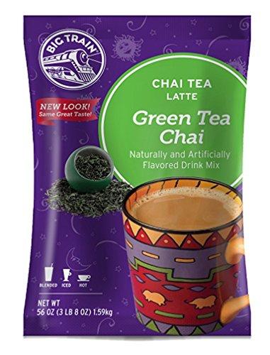 - Big Train Chai Tea Latte, Green Tea, 3.5 Pound, Powdered Instant Chai Tea Latte Mix, Spiced Green Tea with Milk, For Home, Café, Coffee Shop, Restaurant Use