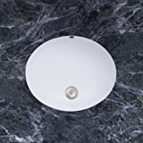 Mirabelle MIRU1714AWH 17'' Porcelain Undermount Bathroom Sink with Overflow