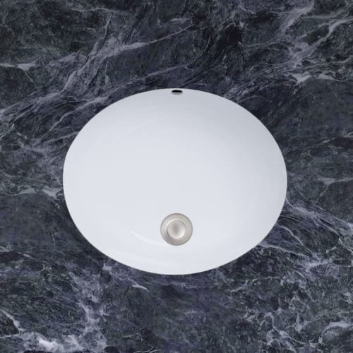 Mirabelle MIRU1714AWH 17'' Porcelain Undermount Bathroom Sink with Overflow by Mirabelle (Image #2)