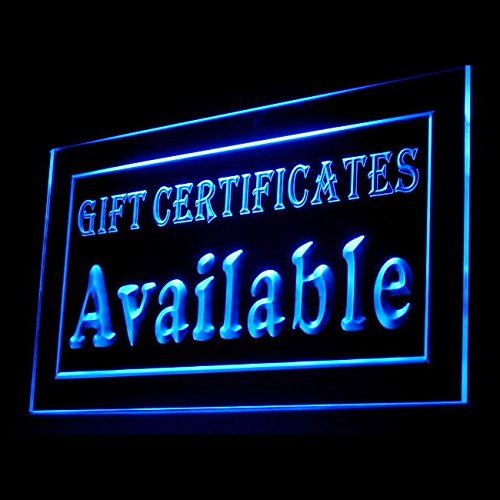 Gift Vouchers Available Consumer Discount Value Occasion LED Light Sign 200006 Color - Available Gift Vouchers