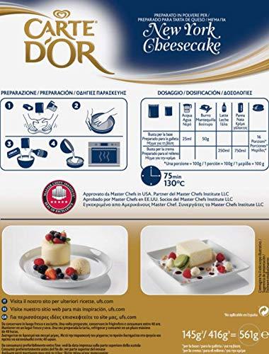 Carte DOr Tarta de queso New York cheesecake deshidratado - 1 tarta para 10 personas: Amazon.es: Alimentación y bebidas