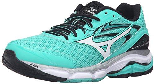 Mizuno Women's Wave Inspire 12 Running Shoe Electric Green-white