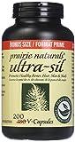 Prairie Naturals Ultra Sil 500mg Organic Vegetal Silica Bonus Size V Caps, 200 Count