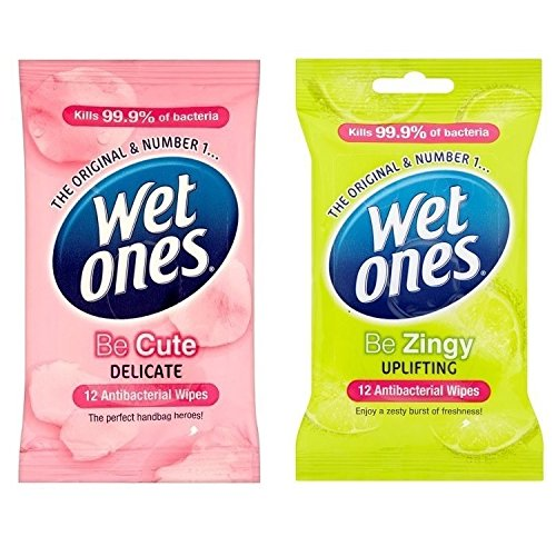 Wet Ones Antibacterial Be Cute + Zingy Travel Adults Kids Face Baby Wipes 10Pks