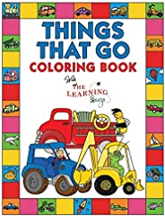 Things That Go Coloring Book with The Learning Bugs: Fun Children's Coloring Book for Toddlers & Kids Ages 3-8 with 50 Pages