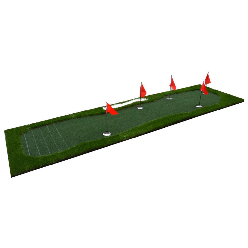 11.5フィート 特大 ゴルフパッティング 練習マット 屋内 屋外 パット 練習 ティック マーク ラバーソール 100×350cm   B07L7SGYH7