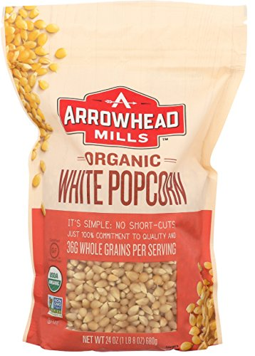 Arrowhead Mills Organic White Popcorn, 24 oz. (Pack of 6)