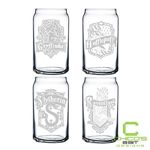 Harry Potter Glass Can Set of 4